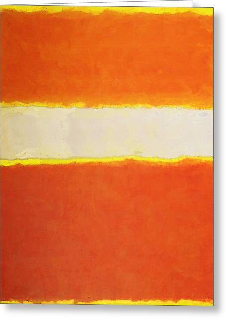 Sunny Side Up - Modern Art By Sharon Cummings Greeting Card by Sharon Cummings