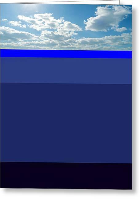 Sunny Sky Over Dead Oceans Greeting Card by Bruce Iorio