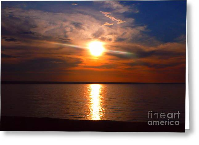Reflections In River Greeting Cards - Sunny Summerday at the Volga Greeting Card by Christian Schmidt