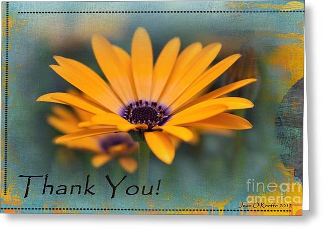 Sunny Thank You  Greeting Card by Jean OKeeffe Macro Abundance Art