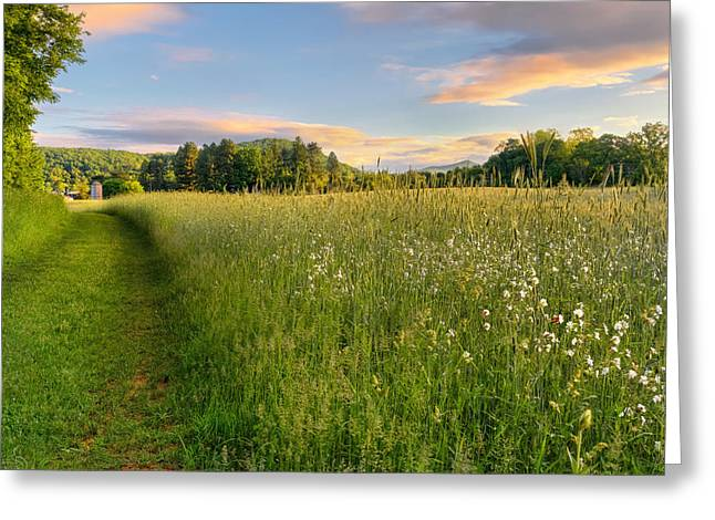 Connecticut Farms Greeting Cards - Sunny Valley Sunrise Greeting Card by Bill  Wakeley