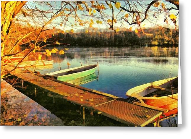 Camille Pissarro Digital Greeting Cards - Sunny Winter Greeting Card by Marina Kaehne