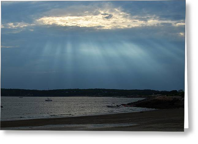 Nile Greeting Cards - Sunrays over Niles beach Greeting Card by Toby McGuire
