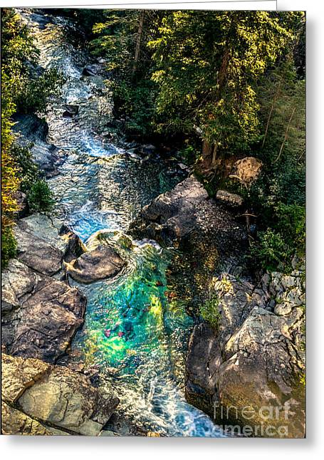 Skinny Greeting Cards - Sunrift Gorge Greeting Card by Robert Bales