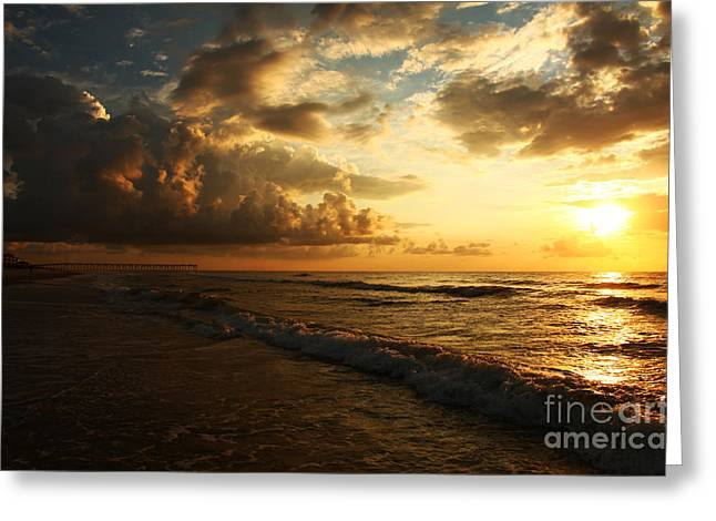 South Beach Framed Prints Greeting Cards - Sunrise - Rich Beauty Greeting Card by Wayne Moran
