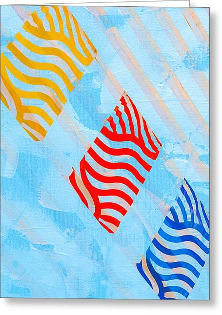 Abstract Sunburst Greeting Cards - Sunrise A Greeting Card by Alexander Senin