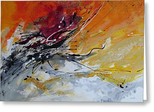 Isi Greeting Cards - Sunrise - Abstract art Greeting Card by Ismeta Gruenwald