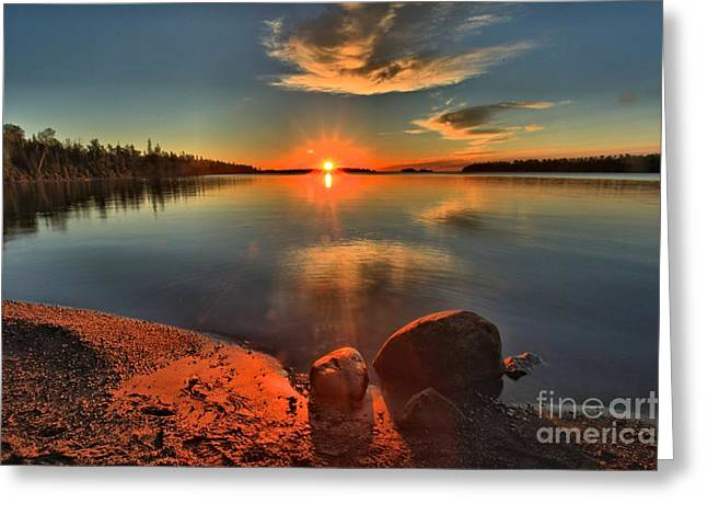 Superior Sunrise Greeting Cards - Sunrise Anchor Greeting Card by Adam Jewell