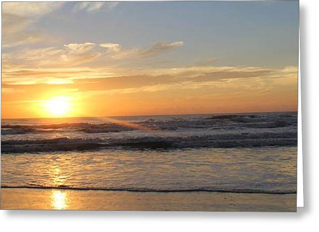 York Beach Greeting Cards - Sunrise Greeting Card by April Antonia
