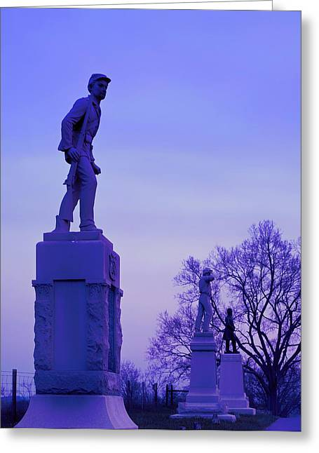 Antietam Greeting Cards - Sunrise at Antietam Battlefield  Greeting Card by Mountain Dreams