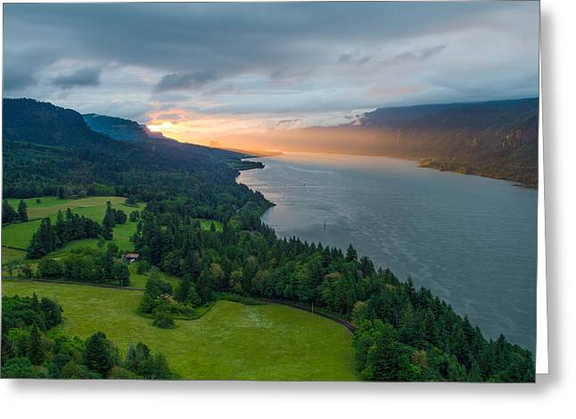 Sunrise At Cape Horn Greeting Card by Patricia Davidson