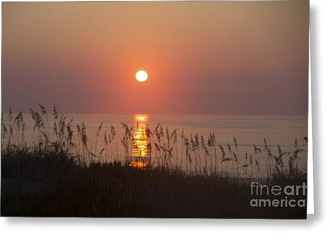 Sunrise At Corolla Outer Banks North Carolina Greeting Card by Diane Diederich