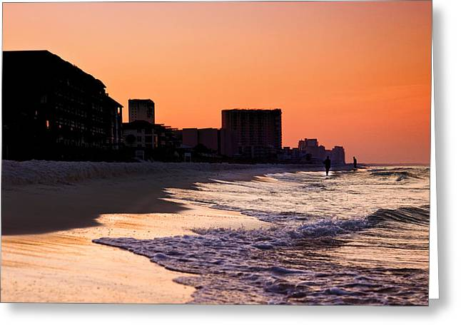 Sunrise At Destin Greeting Card by Joel P Black
