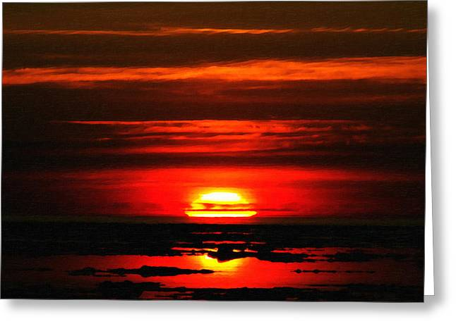 Photographers Duluth Greeting Cards - Sunrise at Duluth Greeting Card by Saibal Ghosh