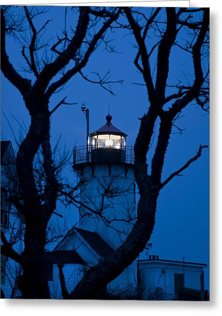 New England Lighthouse Greeting Cards - Sunrise at Eastern Point Lighthouse - Gloucester MA Greeting Card by Joann Vitali