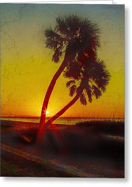 St Petersburg Florida Greeting Cards - Sunrise at Fort de Soto Greeting Card by J Michael Nettik