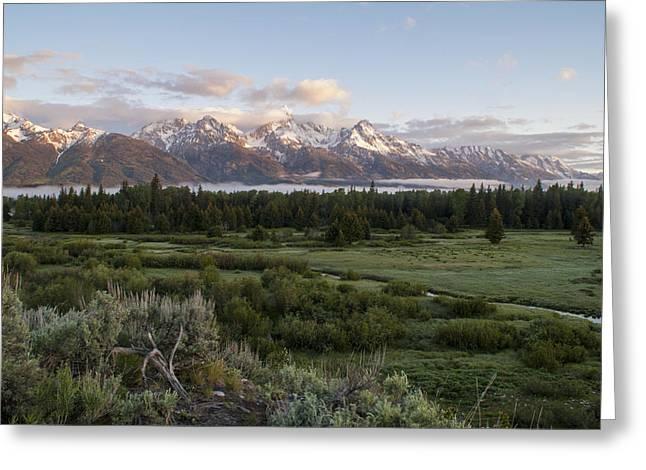 Sunrise At Grand Teton Greeting Card by Brian Harig