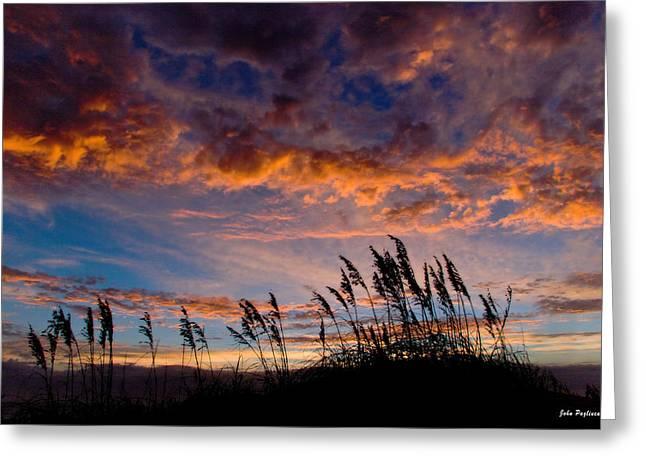 Sunrise At Hatteras Greeting Card by John Pagliuca