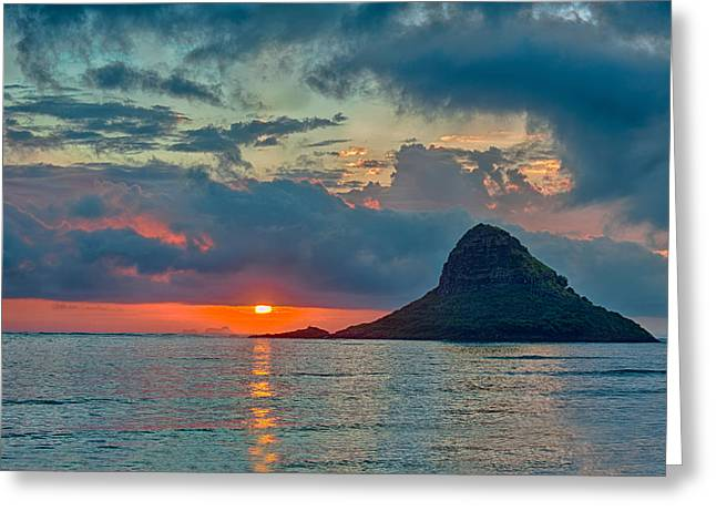 Sunrise At Kualoa Park Greeting Card by Dan McManus