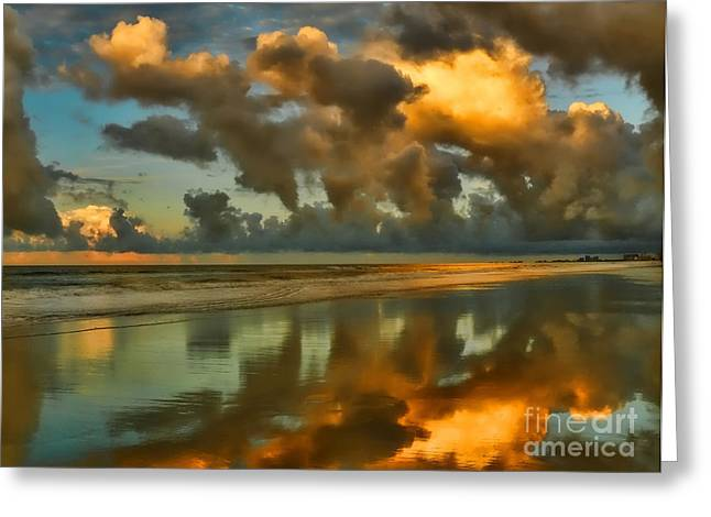 Hdr Landscape Greeting Cards - Sunrise At Myrtle Beach II Greeting Card by Jeff Breiman