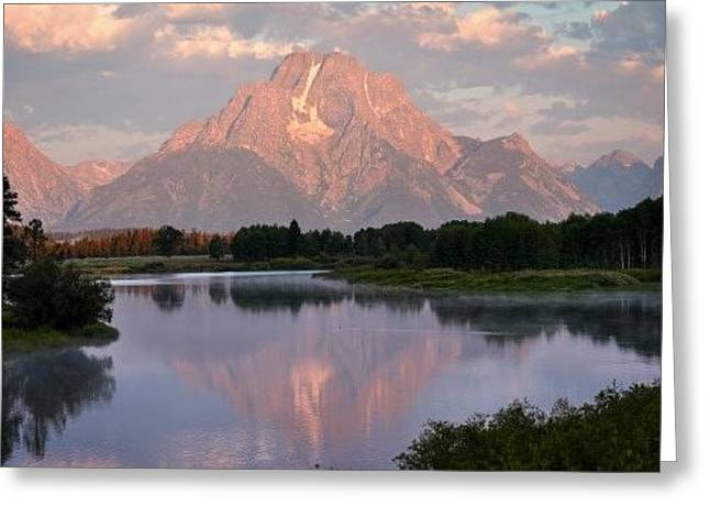 Sunrise At Oxbow Bend 1 Greeting Card by Marty Koch