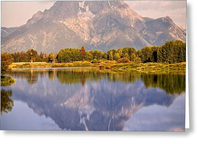Sunrise at Oxbow Bend 2 Greeting Card by Marty Koch