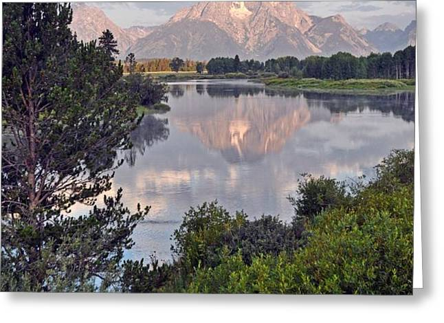 Sunrise at Oxbow Bend 3 Greeting Card by Marty Koch
