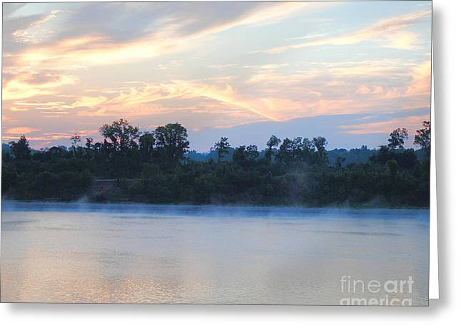 River Scenes Greeting Cards - Sunrise at Shiloh II Greeting Card by Jai Johnson