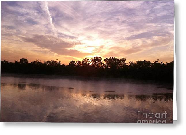 River Scenes Greeting Cards - Sunrise at Shiloh Greeting Card by Jai Johnson