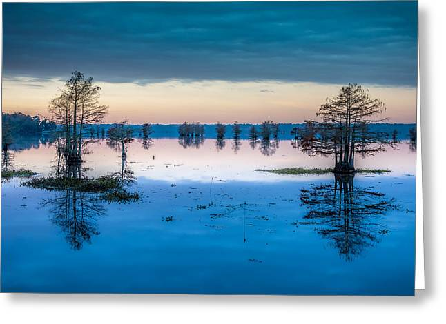 Parks And Wildlife Greeting Cards - Sunrise at Steinhagen Reservoir Greeting Card by David Morefield