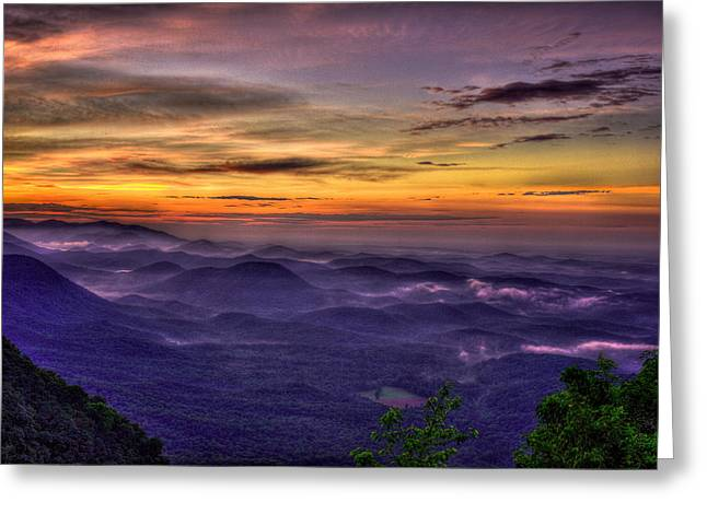Summer Camps Greeting Cards - Sunrise at Pretty Place Chapel Great Smokey Mountains Greeting Card by Reid Callaway
