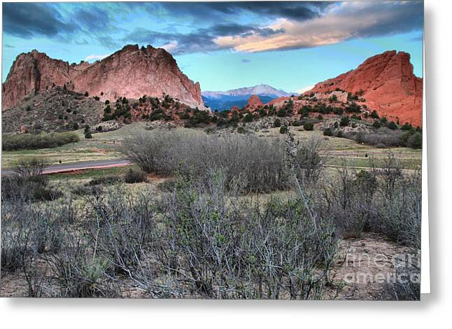 Colorado Landmarks Greeting Cards - Sunrise At The Gods Greeting Card by Adam Jewell