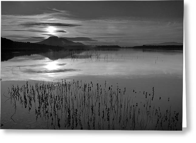 Granada Greeting Cards - Sunrise at the lake Greeting Card by Guido Montanes Castillo