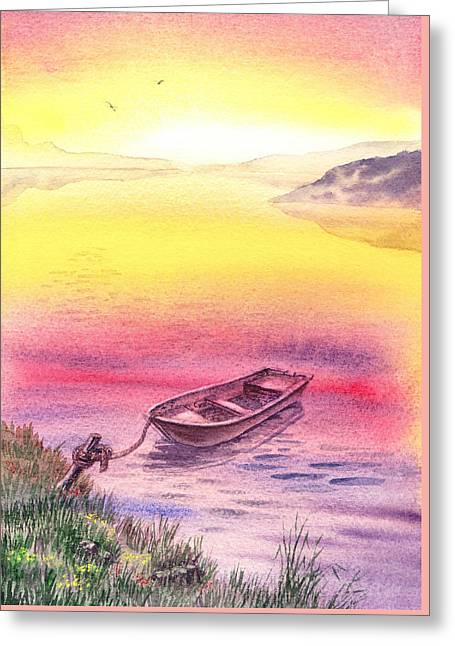 Sunrise At The Lake Greeting Card by Irina Sztukowski