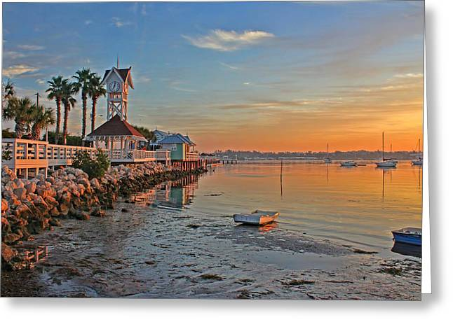 Sunrise At The Pier Greeting Card by HH Photography of Florida