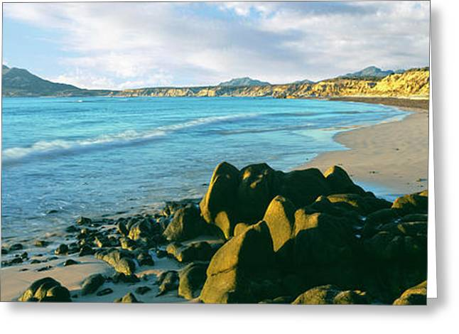 Sunrise At The Sea Of Cortez, Cabo Greeting Card by Panoramic Images