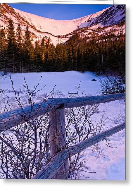 Vertical Composition Greeting Cards - Sunrise At Tuckermans With Fence 2 Greeting Card by Jeff Sinon