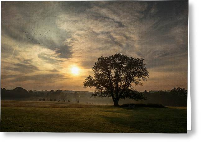 18th Century Greeting Cards - Sunrise at Valley Forge Greeting Card by Photos By Jeff