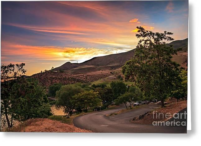 Sunrise At Woodhead Park Greeting Card by Robert Bales