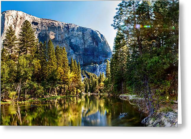 Blue Green Water Photographs Greeting Cards - Sunrise At Yosemite Greeting Card by Az Jackson