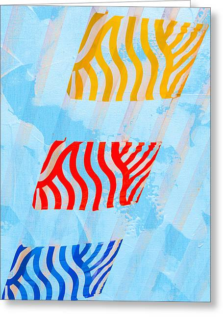 Abstract Sunburst Greeting Cards - Sunrise B Greeting Card by Alexander Senin