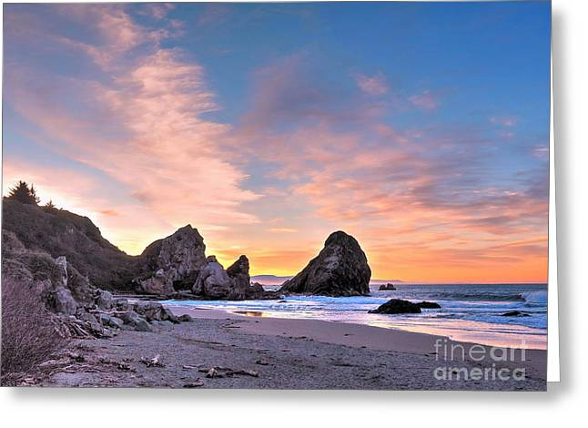 Tidal Photographs Greeting Cards - Sunrise Beach 3 Greeting Card by   FLJohnson Photography
