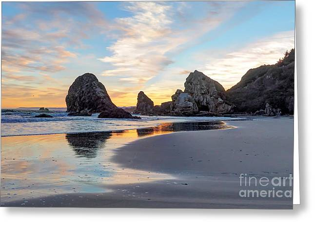 Tidal Photographs Greeting Cards - Sunrise Beach 8 Greeting Card by   FLJohnson Photography