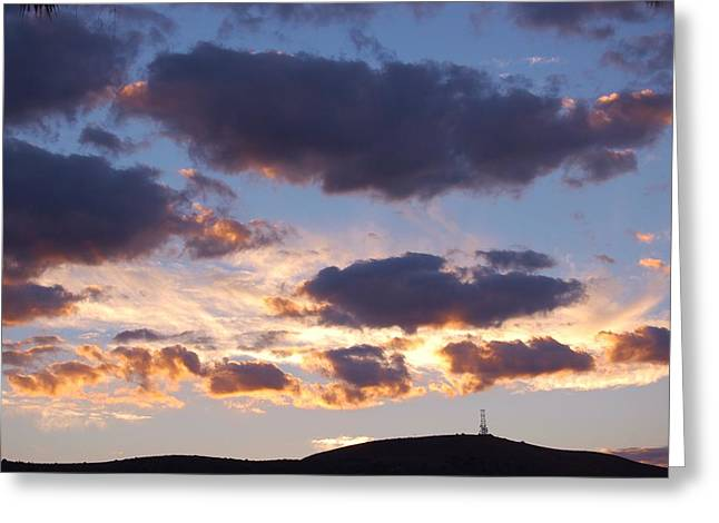 Sunrise Over California Greeting Cards - Sunrise Clouds I Greeting Card by Linda Brody