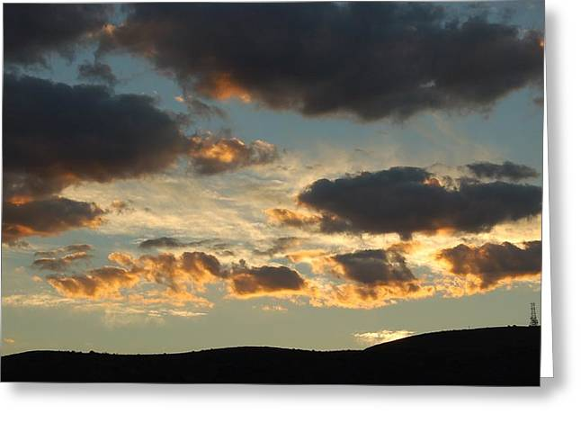 Sunrise Over California Greeting Cards - Sunrise Clouds II Greeting Card by Linda Brody