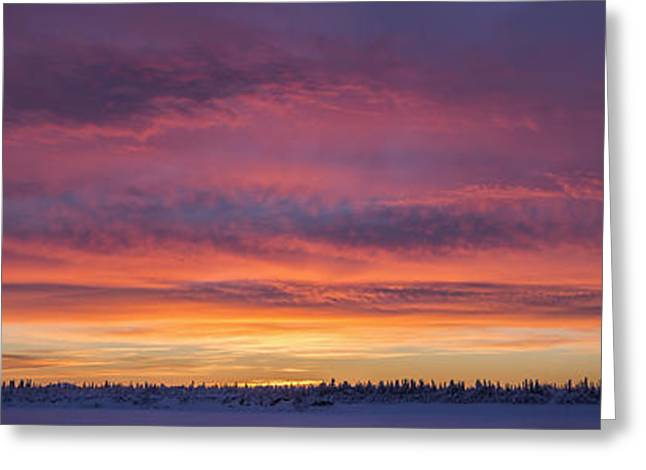 Peaceful Scenery Greeting Cards - Sunrise Clouds Over The Porcupine Greeting Card by Robert Postma