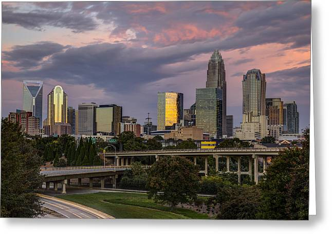 Recently Sold -  - Charlotte Greeting Cards - Sunrise Commute Greeting Card by Chris Austin