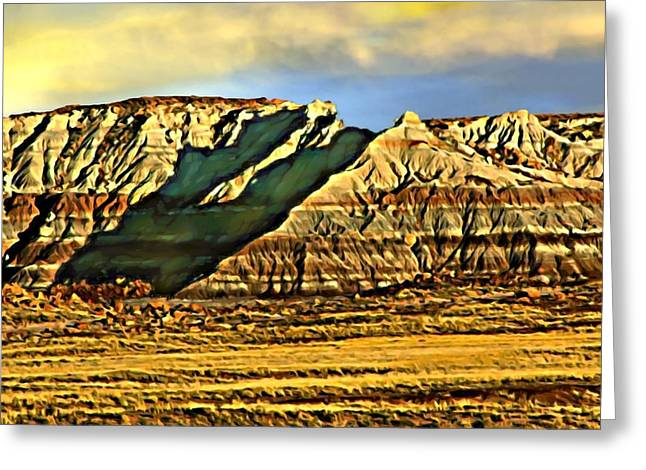 Sand Patterns Mixed Media Greeting Cards - Sunrise Crystal Ridge Death Valley National Park Greeting Card by  Bob and Nadine Johnston