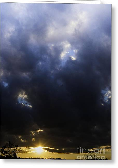 Colorful Cloud Formations Greeting Cards - Sunrise Drama Greeting Card by Thomas R Fletcher