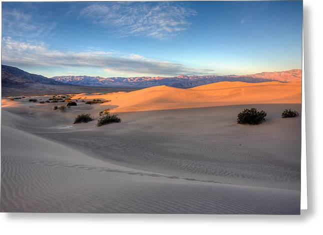 Hdr Landscape Photographs Greeting Cards - Sunrise Dunes Greeting Card by Peter Tellone